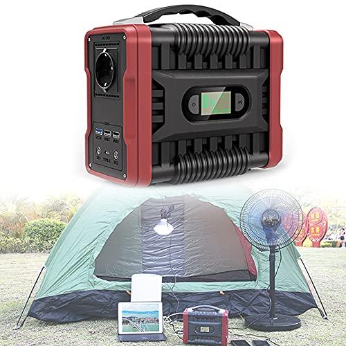 Roboraty Estación De Energía Portátil, Generador Solar De 222wh/60000mah, Fuente De Alimentación De Batería con Salida De Ca De 200w (Pico De 320w) Qc3.0 para Cpap Camping Travel Outdoor Home RV