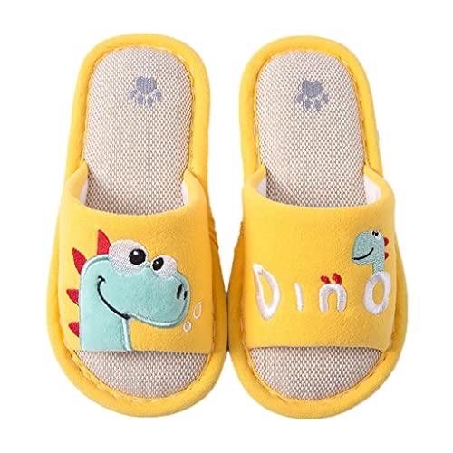 Pantofole aperte per bambini, 33 pantofole per bambini, per interni ed esterni, traspiranti, giallo., 35 cm EU