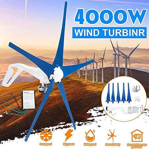 LWQ Windturbine, 4000W / 12V / 24V 3 Nylon Blades Wind Turbines Generator Mit Freiem Wind-Controller Verwenden Hauptsonnenstreet, Boot,5,12V