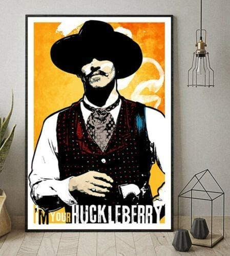Doc Superlatite Holliday Tombstone I'm Your Ca Max 82% OFF Portrait Huckleberry Framed -