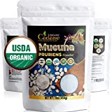 Organic Mucuna Pruriens Powder 1 Pound(454GRAMS)| USDA Certified Booster Depression Supplements | Pure and Natural Velvet Beans Extract | Vegan-Friendly Mood Stabilizer for Brain Health