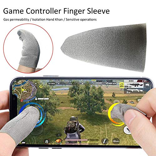 Weitong 10 STÜCKE Fingerlinge fingerschutz Mobile Game Finger Sleeve Touch Screen Fingerhülse Handyspiel Finger Sleeve Controller Set Anti-Schweiß Touchscreen Finger Cot