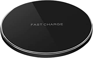 Portable Charger pad,Qi-Certified Fast Wireless Charging Pad for iPhone 11/11 Pro/11 Pro Max/Xs MAX/XR/XS/X/8 Plus,10W Wireless Charger for Galaxy Note 10/Note 9/Note 8/S10/S9/S8(No AC Adapter)