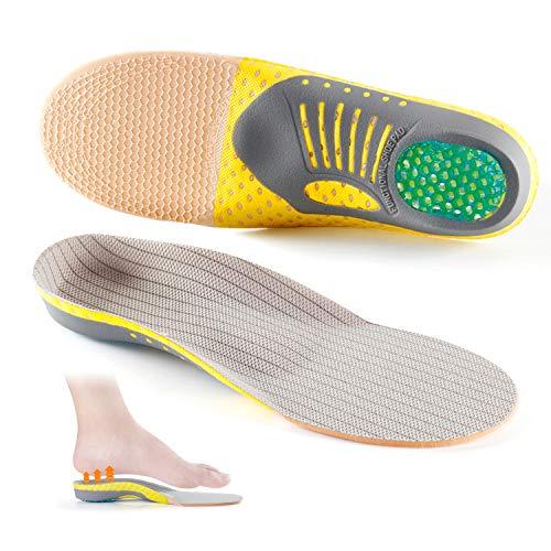 Plantillas Deportivas,Corriendo Alzas Absorción de Impactos y Amortiguación Confort Absorción de Choque Plantillas,Plantillas de Zapatos Ortopédicos para Hombres y Mujeres (L)