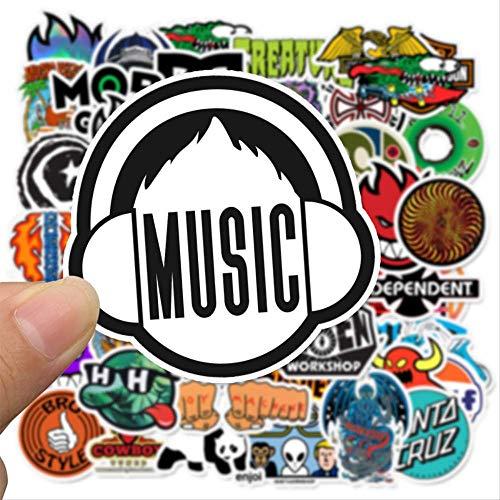 50 Marca Logo Personalidad Graffiti Pegatina Impermeable Maleta Viaje Caso Skateboard Tendencia Sticker