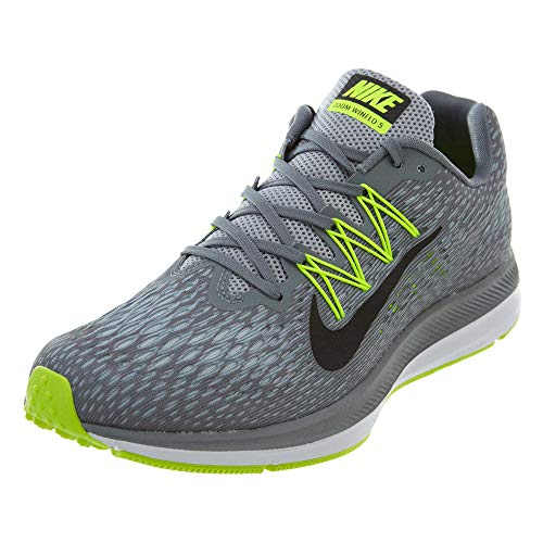 Nike Men's Air Zoom Winflo 5 Running Shoe, Cool Grey/Black-Wolf Grey-Pure Platinum, 9