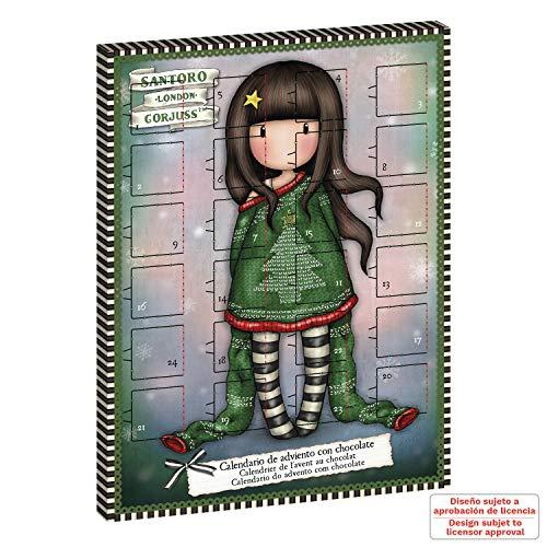 Dekora Chocolate | Calendario de Adviento para Niños de Santoro Gorjuss-50 g (225104)