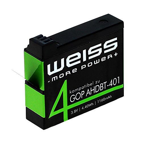 Weiss Akku für GoPro Hero 4, Black, 8009141