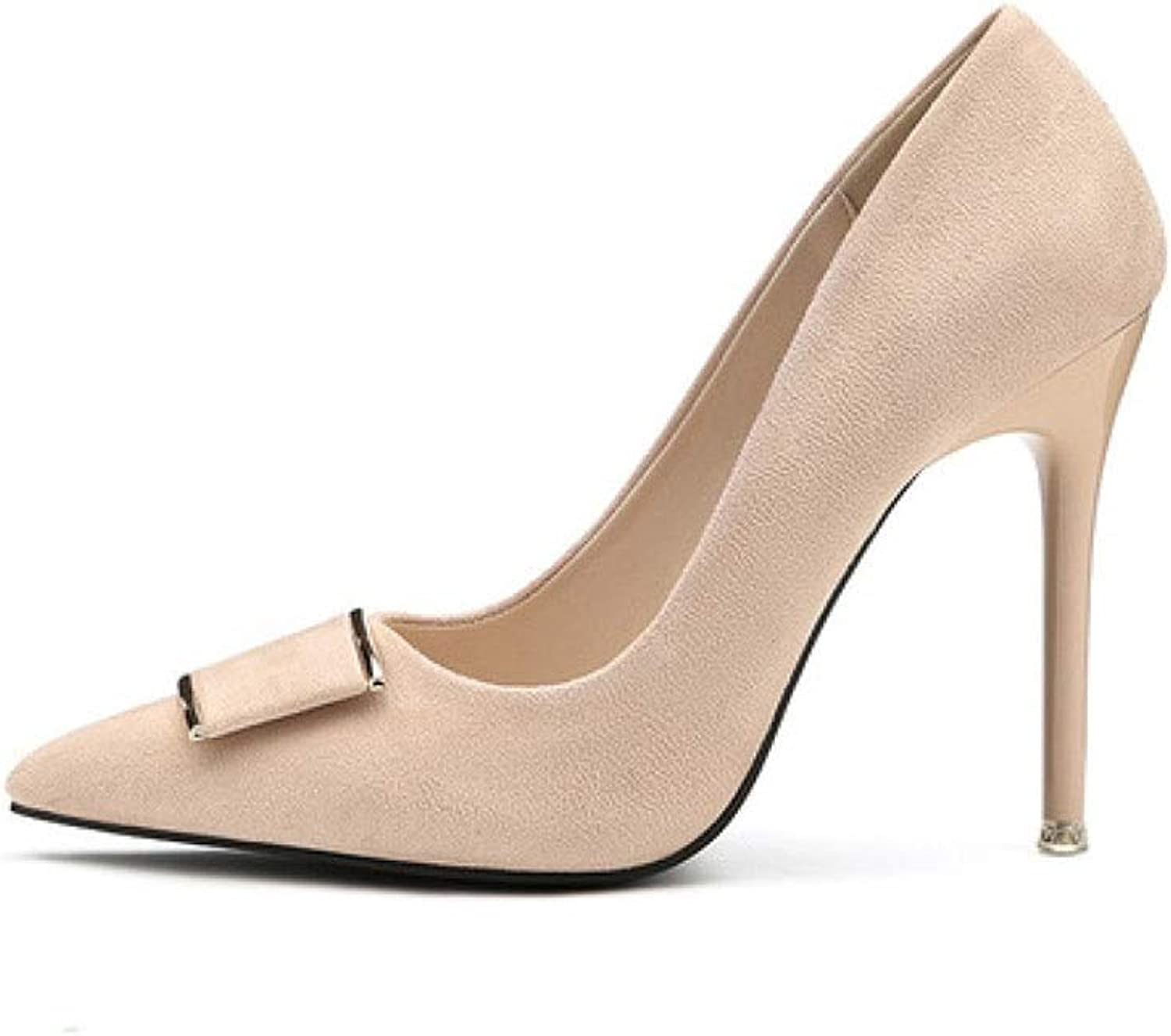 CBDGD High-Heeled shoes Women's Fashion Casual Elegant Temperament Buckle High Heels High-Heeled shoes Spring and Summer 10.5CM 4 colors High Heels