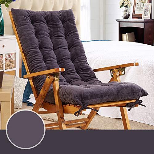 Schaukelstuhl Kissen Gepolsterte Sitz Auflage Sitzkissen Hochlehner Auflage Lange Sessel Kopfstütze Liegesessel Stuhl Garten Lounge Matte Matratze