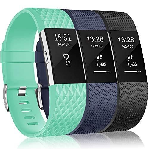 Onedream Correa Compatible para Fitbit Charge 2 Strap,Charge2 Reloj Pulsera Reemplazo Silicona S/L