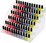 6 Tiers Acrylic Essential Oil Display Rack Nail Polish Organizer Plastic Collection Container for Paints Dropper Bottle Makeup Tabletop Desktop Retail Store Shelf Storage Case Stand Fair Show Holder