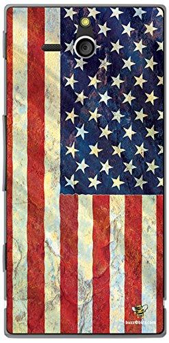 Buzzebizz - Cover per Sony Xperia U, Motivo: Bandiera degli Stati Uniti