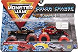 Monster Jam Camiones Monstruos fundidos a presión del Captain's Curse vs. Crushstation Que cambian de Color, Escala 1:64
