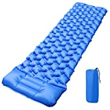 Qomolo Camping Sleeping Mat Inflatable, Ultralight Compact Sleeping Pad with Pillow Inflatable Air