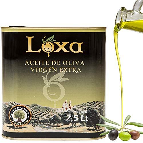 Loxa Olivenöl 2,5 Liter kaltgepresst - Erhältlich in 0,5l / 2,5l / 5l. Natives Öl Extra aus Andalusien Spanien - Kanister. Oliven öl extra vergine. Extra Virgen Olive Oil from Andalusia Spain (2,5 L)