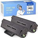 MyCartridge Tóner compatible con HP W1106A 106A [con chip] para HP Laser MFP 135a 135w 135r 137fnw HP Laser 107a 107w 107r (negro*2)