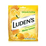 Luden's Deliciously Soothing Throat Drops, Honey Lemon Flavor, 90 Count