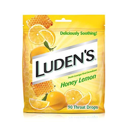 Ludens Throat Drops, Honey Lemon, 90 Drops
