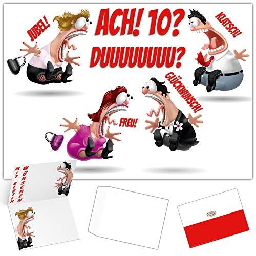 A4 XXL 18 Geburtstag Karte KOLLEGEN mit Umschlag - lustige Geburtstagskarte - Glückwunschkarte zum 18. Geburtstag Junge & Mädchen von BREITENWERK