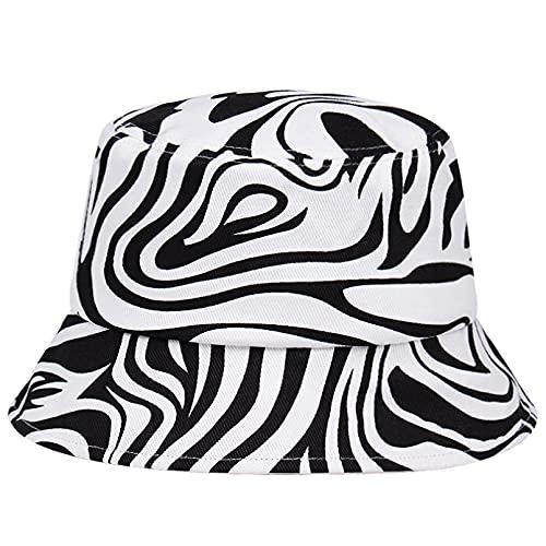 Sombrero de pescador a rayas estampadas para mujer, sombrero de visera informal para hombre, sombreros de cubo para parejas al aire libre, gorra deportiva para lavabo, sombrero de playa plano de Hip