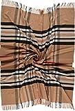 Giorgio Rimaldi Cashmink Plaid Kuschel-Decke/Tagesdecke/Überwurf/Wohndecke - Feiner als Kaschmir - Flauschige Decke Größe 150 x 180 cm Camel