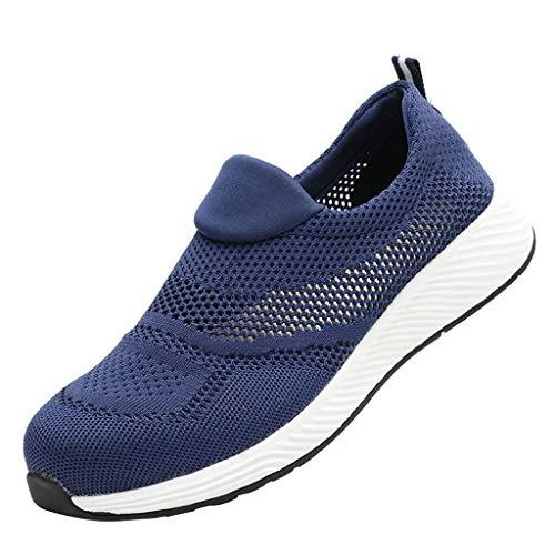 KIMODO® Unisex Sneakers Atmungsaktives Netzgewebe Badeschuhe Laufschuhe Arbeitsschuhe Anti-Smashing Sportschuhe Turnschuhe für Damen Herren