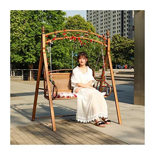 Muebles de patio al aire libre Swing Glider con soporte, Sillas de swing al aire libre de la cama de swing de la princesa para adultos, banco de silla de swing exterior de jardín adecuado para la pisc