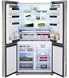 Blomberg KQD 1251 X Side by Side / A ++ / Refrigerator Part: 385 L / Freezer: 155 L / Stainless Steel / Fingerprint Free / 2 0 ° C - Zones and Florabeam / Trio-Cycle-No Frost / Flexi Zone