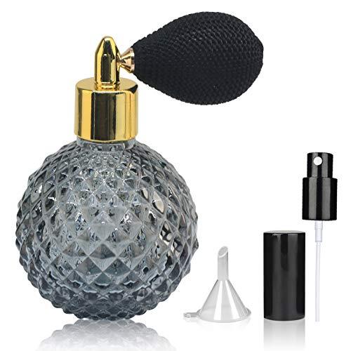 LINALL SPBT0003 - Atomizador de perfume (100 ml, cristal), color negro