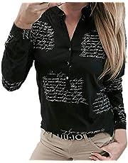 VJGOAL blouse met korte mouwen voor dames, elegante V-hals, grote maten, top, zomer, klassiek, casual, knop, korte mouwen, bovenstuk, T-shirt