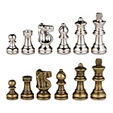 Odysseus Metal Weighted Chess Pieces with 2.5 Inch King and Extra Queens, Pieces Only, No Board