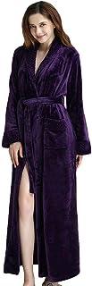 YiyiLai Women Couples Soft Fleece Winter Bathrobe Lounge Dressing Gown Pajamas