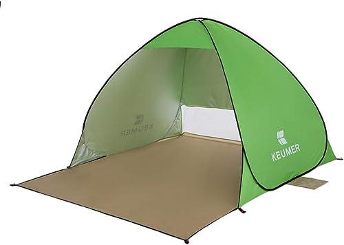 MDZH Tente 1Ps Outdoor Instant Pop-Up Ouvert Tente (120 + 60)  150  100Cm Tente De Plage Abri Camping Pêche Voyage Jardin Tente