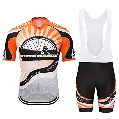JFY- Jerseys-0902 Trikots Fahrradanzüge Trapezanzüge Sportbekleidung Schnelltrocknende Kleidung Enges Oberteil Overall Flaschenzug Fahrrad-Reitanzug JFYCUICAN (Color : Orange, Size : XXXL)