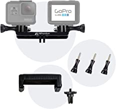 Dual Twin Mount Adapter Accessories with Tripod Mount Adapter Thumbscrews and Phone Clip for GoPro Hero 5 Session Black Silver 6 5 4 3 3+ 2 1 & XiaoYI, Double Mounting Accessory Kit for Action Cameras