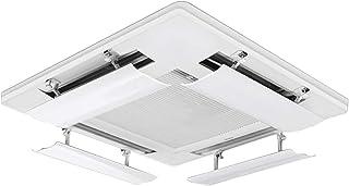 LAFULU(ラフル) エアコン 風避け エアコン風よけカバー エアコンルーバー 風よけ エアコンかぜよけ 冷房 暖房 風向きを自由に調整 風の直撃防止 壁に穴あけ不要 多機種対応 取り付け簡単(53cm)