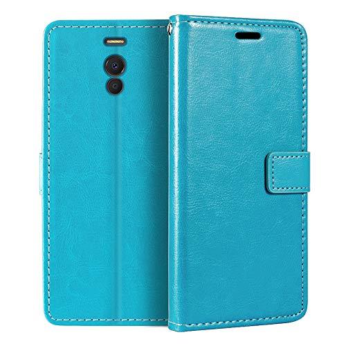Meizu M6 Note - Funda tipo cartera para Meizu M6 Note (piel sintética, cierre magnético, tarjetero, función atril)