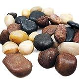 1,5 kg Flusskiesel Dekosteine weiß grau braun Granit Kieselsteine als Streudeko oder Zierkiesel. Steine zum bemalen & beschriften als Tischdeko Hochzeit Flache Steine abgepackt in 3 x 500g Beutel