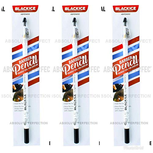 Black Ice Spray Barber Pencil Edge Hairline Razor Trace (3 PACK) YOU CHOOSE WHICH 3 PACK (3 WHITE)
