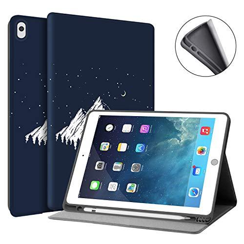 HUASIRU Funda de pintura para iPad Air 10.5 pulgadas (3ª generación) 2019 / iPad Pro 10.5 pulgadas 2017 – Soporte para lápices integrado, montaña