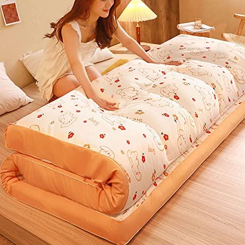 HUANXA Japonés Plegable Tatami Colchón Futón, Tatami Colchón Futón Suave Espesar Colchón Topper para Invitados Estudiante Dormitorio Sleeping Pad -Osito-150x200cm(59x79in)