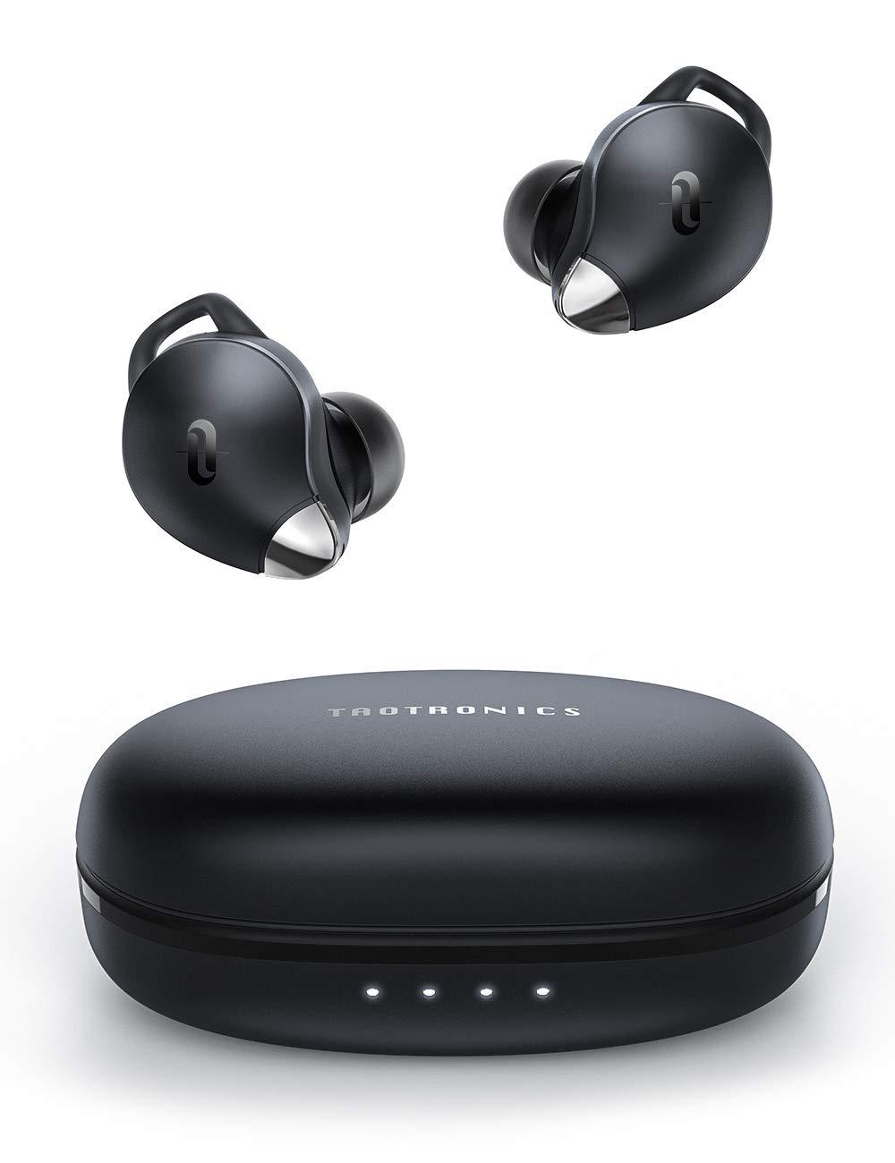 Wireless Earbuds TaoTronics Wireless Headphones Smart Touch Control 30Hrs IPX8 Waterproof Bluetooth 5.0 Hi-Fi Stereo Audio Wireless Eardphones in ear SoundLiberty 92 for Smartphone Tablet Laptop