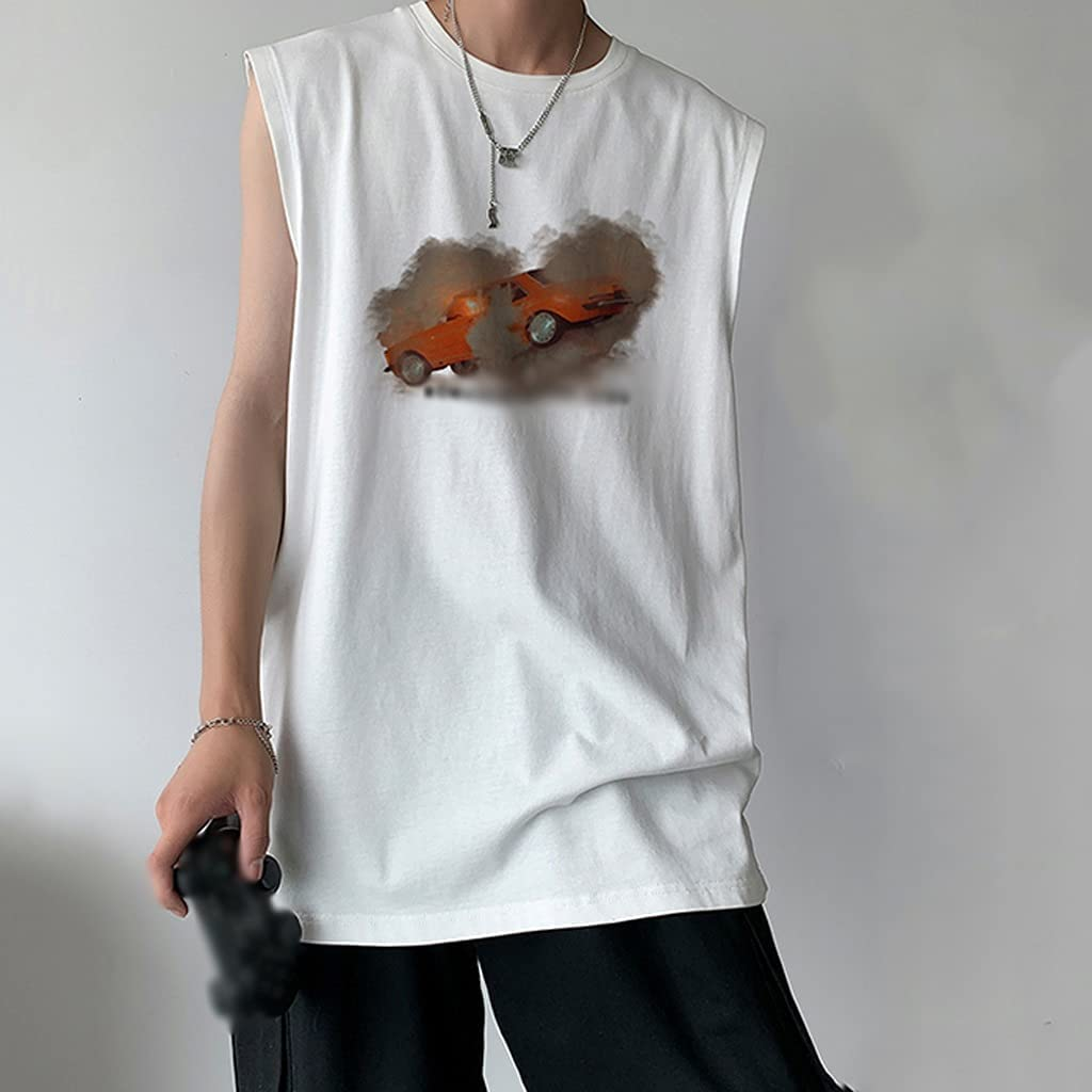 PDGJG Men's Summer Vest Loose Men Sleeveless f Max New product!! 45% OFF T-Shirt Tank Tops