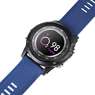 FFWJM Pulsera Inteligente Modo de Viaje Deportivo Monitor de frecuencia cardíaca Oxígeno IP68 a Prueba de Agua (Azul)