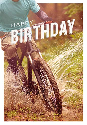 Verjaardagskaart Basic Classic - mountainbike - 11,6 x 16,6 cm