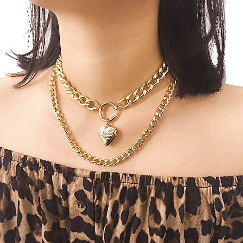 Eyraevor Women Gothic Choker Necklace Hip Hop Handcuffs Punk Rock Chain Necklace