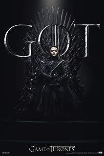 Pyramid America Game of Thrones Arya Stark Iron Throne Season 8 Cool Wall Decor Art Print Poster 12x18