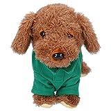 Omabeta Juguete del Perro del Animal Doméstico Juguete del Perro De La Felpa Juguete Electrónico Inteligente del Perro del Animal Doméstico Niños para El Regalo Casero(Osito de Peluche)
