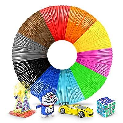 3D Pen Filament 1.75mm,3D Pen Filament Refills PLA for 3D Pens and Printers 10 Colors Random,each 1.75mm 5M,10 Colors 5M/16 Feet,PLA Multi Color